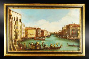 VEDUTA DI VENEZIA REGATA SUL CANAL GRANDE (dal Canaletto)