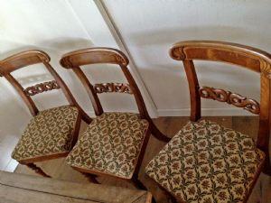 """Three chairs Charles X"""""""