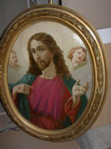 painting Sacred Heart