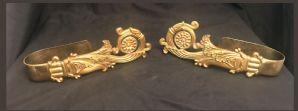 Coppia di ferma tenda in bronzo dorato Napoli Carlo X