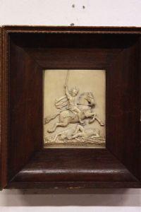 Quadro bassorilievo raffigurante Vercingetorige con cornice