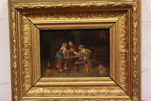 Dipinto olio su tela raffigurante diversi soggetti painting oil on canvas