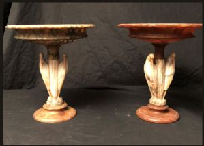 "Pair of alabaster cups France Napoleon III"""
