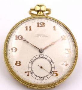 "Pocket Watch Ulysse Nardin in 18k gold about 1940"""