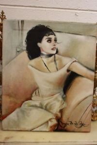 Dipinto olio su tela oil on canvas painting '900 con firma signed