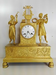 """Empire parisien Bronze 1820 Dorure mercure 2 PERSONNAGES"""""""