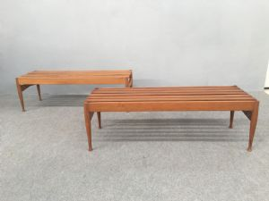 pair of benches designed by Gio Ponti