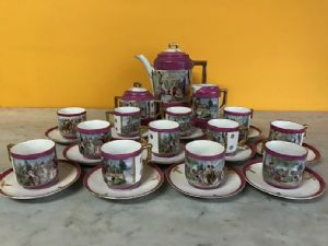 service coffee 'polychrome porcelain 12 full