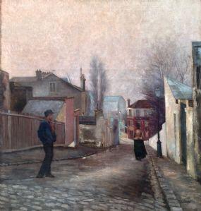 """""""La passante"""" firmato Albert Depré (1861-1937)"""