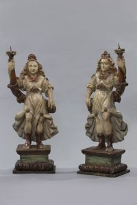 """Pair of carving sculptures"""""""