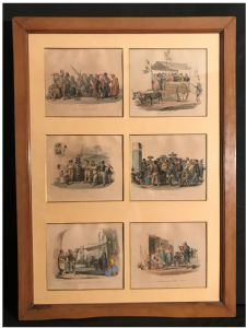 "Series of twelve watercolored prints ""Cats and Dura"" Naples early in the nineteenth century"""