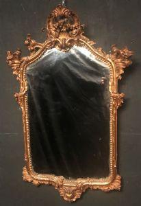 Specchiera del XVIII Secolo Napoletana in legno dorato