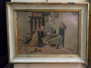 "Painting ""Grandma with child"""