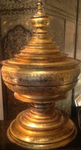 BURMA GOLDEN BOX FOR OFFERS AND CEREMONIES A FORM OF STUPA