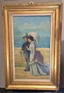 "Vincenzo Cabianca "" Passeggiata Romantica "" 1880"