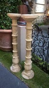 coppia colonne terracotta