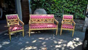 salotto impero (7 sedie, divano,2 poltrone)