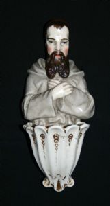 3) Ceramic Holy Water Font - 1860-80