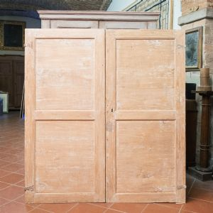 Pair of poplar wood doors""