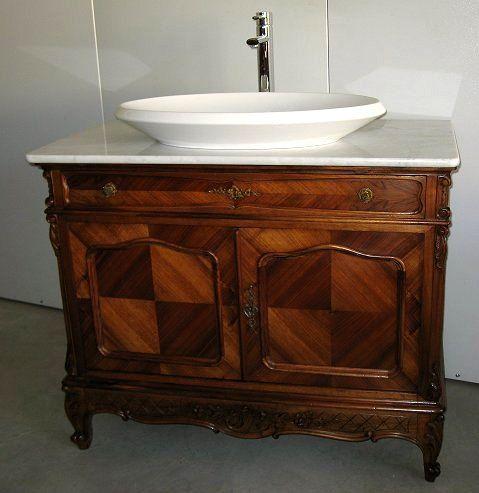 Mobile Bagno in noce con lavabo inizi 1900. Art.0075 Antiquariato su ...