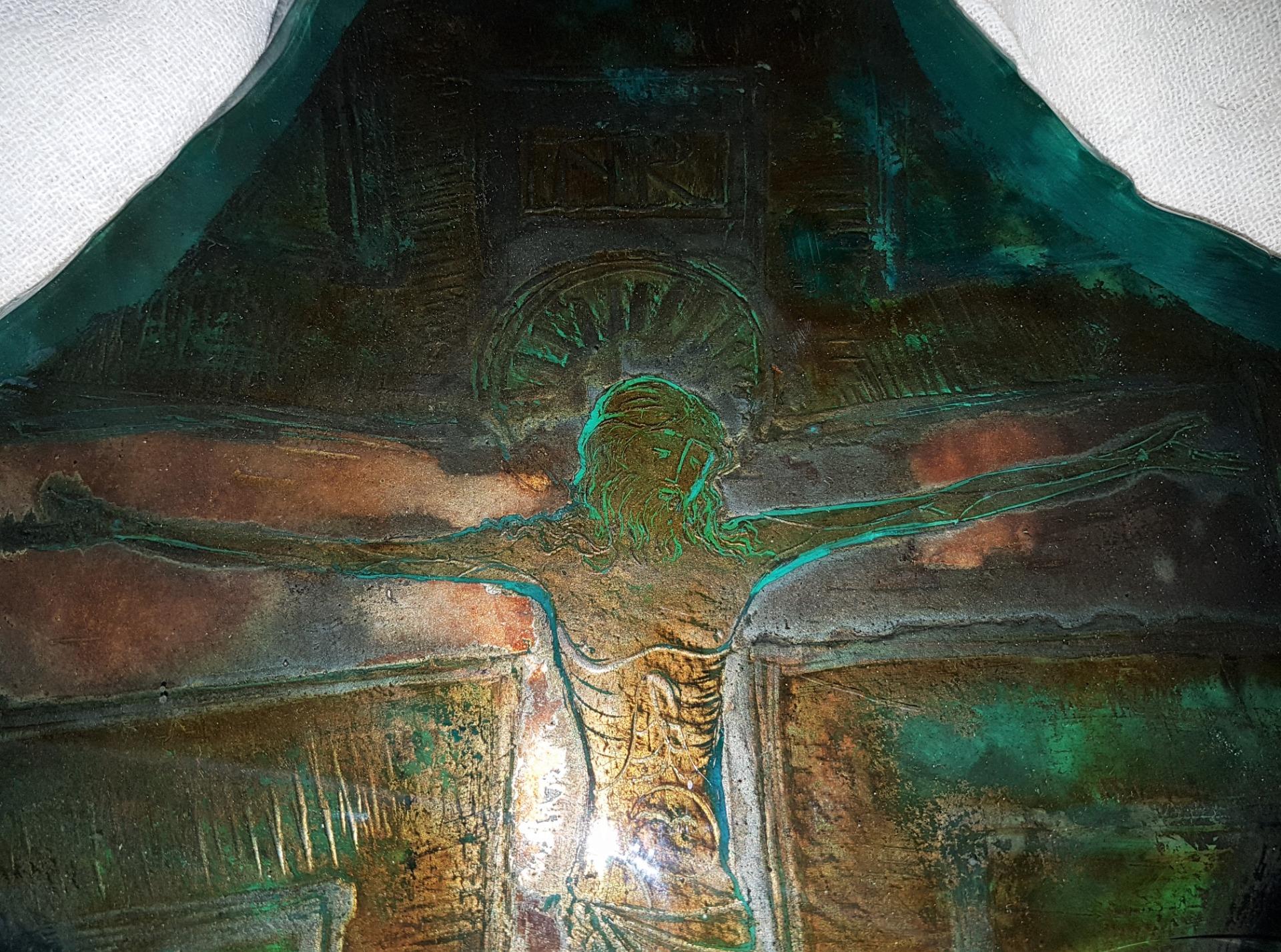 thumb2|Placca in vetro con Cristo
