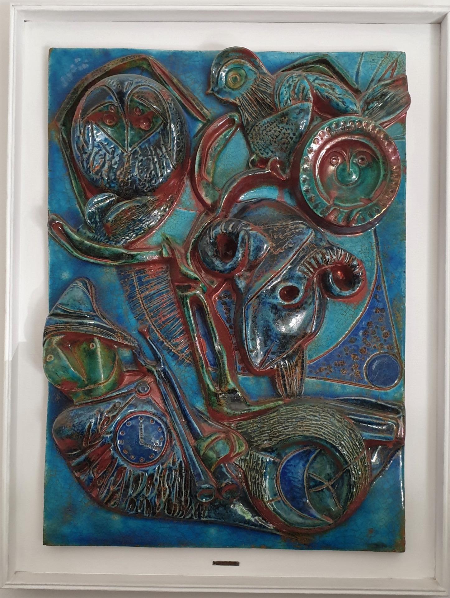 thumb2|Carlo Zauli. Pendant di mattonelle
