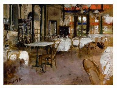 thumb2|Interno del Caffè Vacca - Antonio Mancini 1880