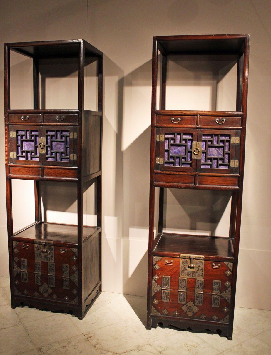 mobili giapponesi in legno di keyaki antiquariato su