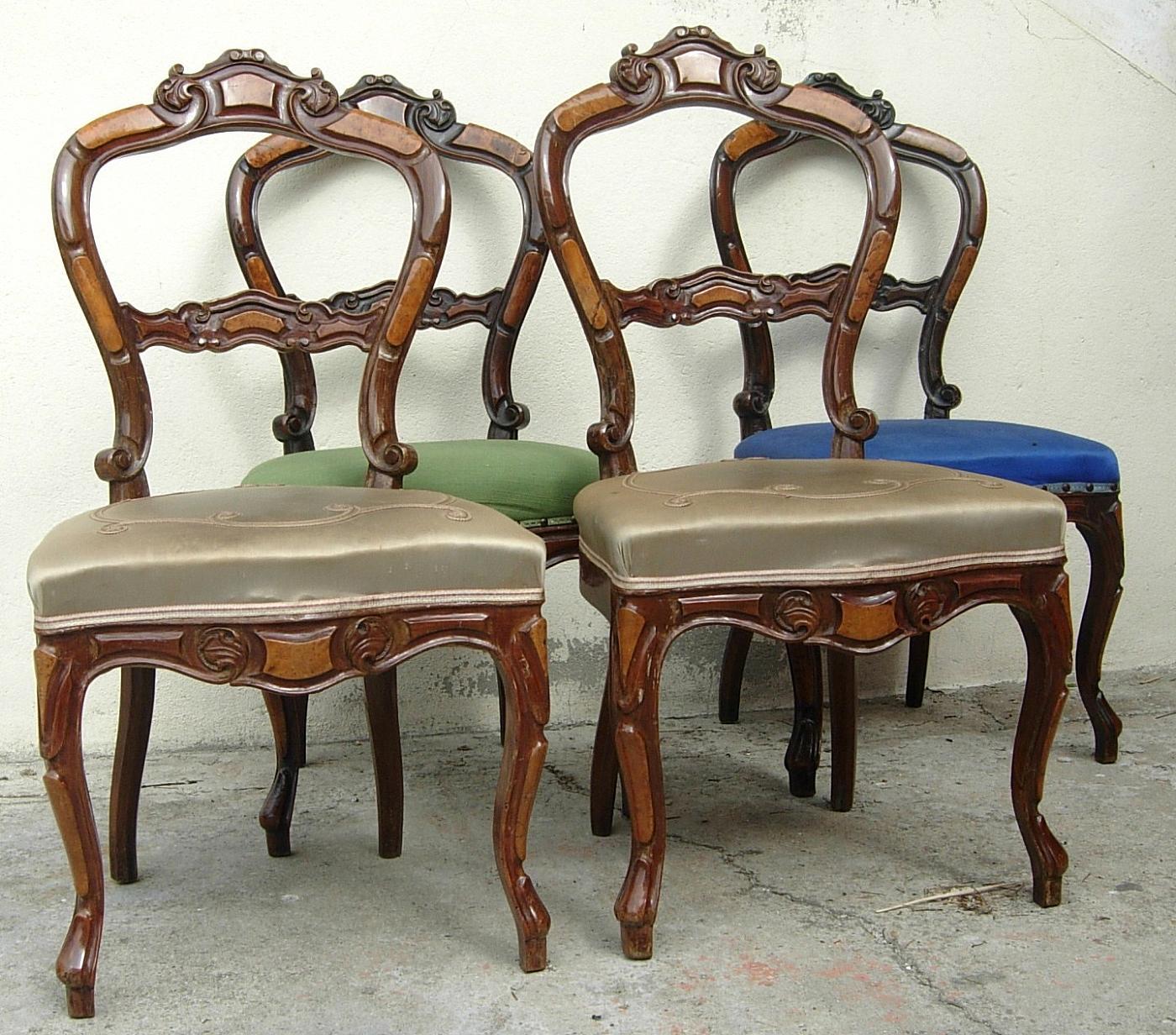 Quattro sedie antiquariato su anticoantico - Stima mobili antichi ...