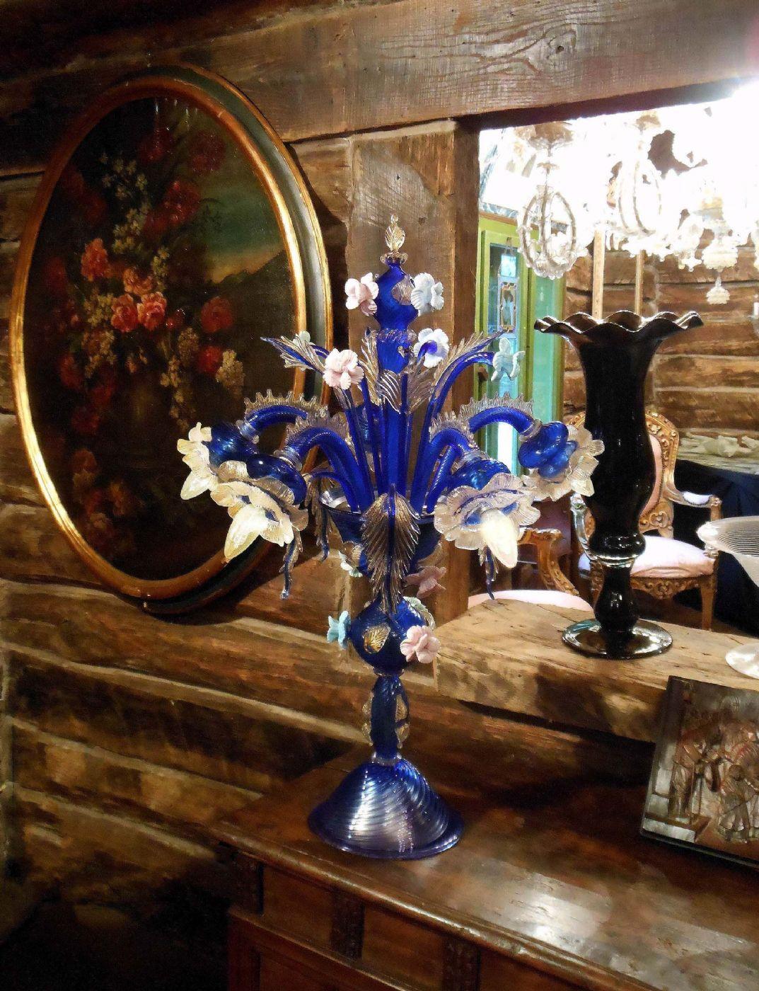 Raro flambeau eccezionale lampadario da tavolo in - Lampadario tavolo ...