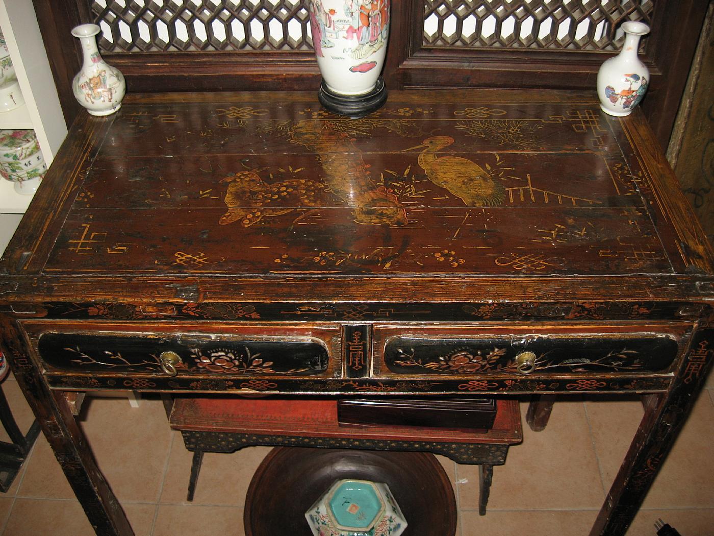 Tavolino consolles cinese laccato antiquariato su anticoantico for Antiquariato cinese milano