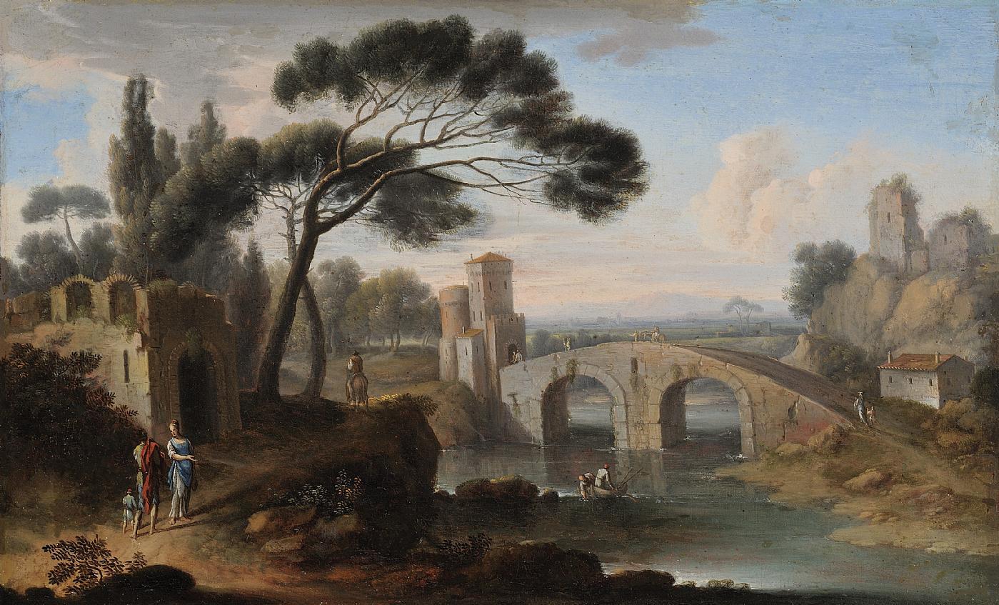 Hendrik van lint mons studio 1684 1763 for Piani di fondazione del ponte