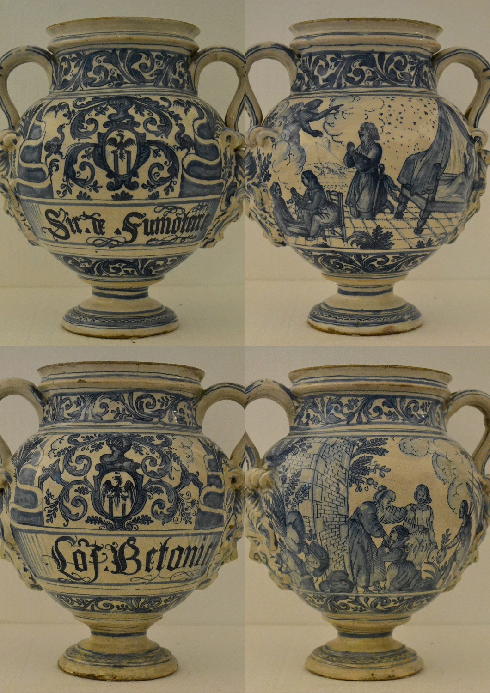 thumb2|S - Vasi farmaceutici - Savona fine XVI inizi XVII secolo