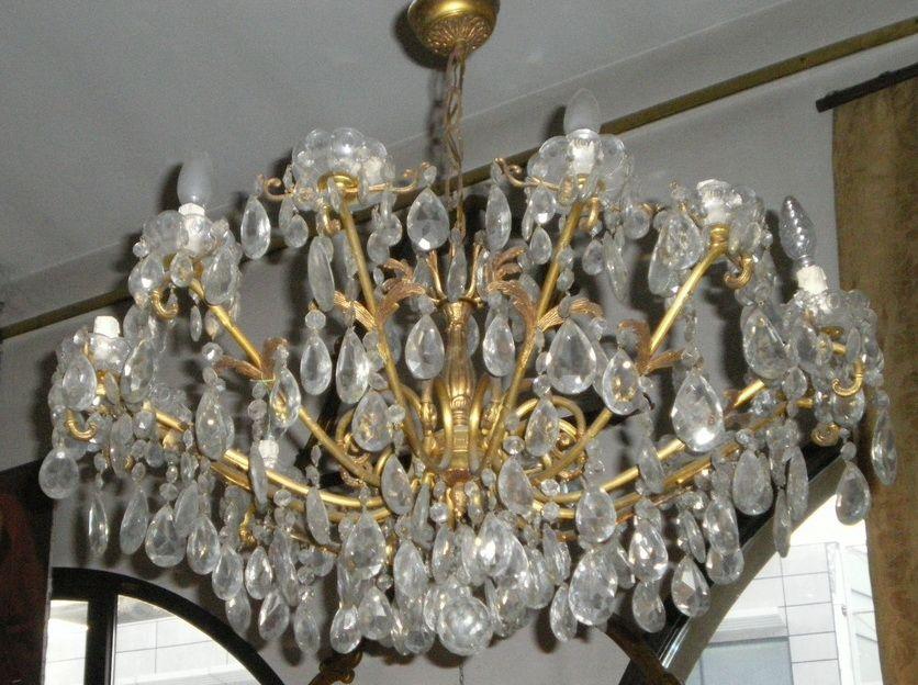 lampadario cristallo boemia : ... luci con pendenti in cristallo di boemia Antiquariato su Anticoantico