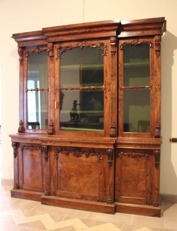 A 99343 | W 1605 Libreria antica a tre ante con vetrina, libreria in ...