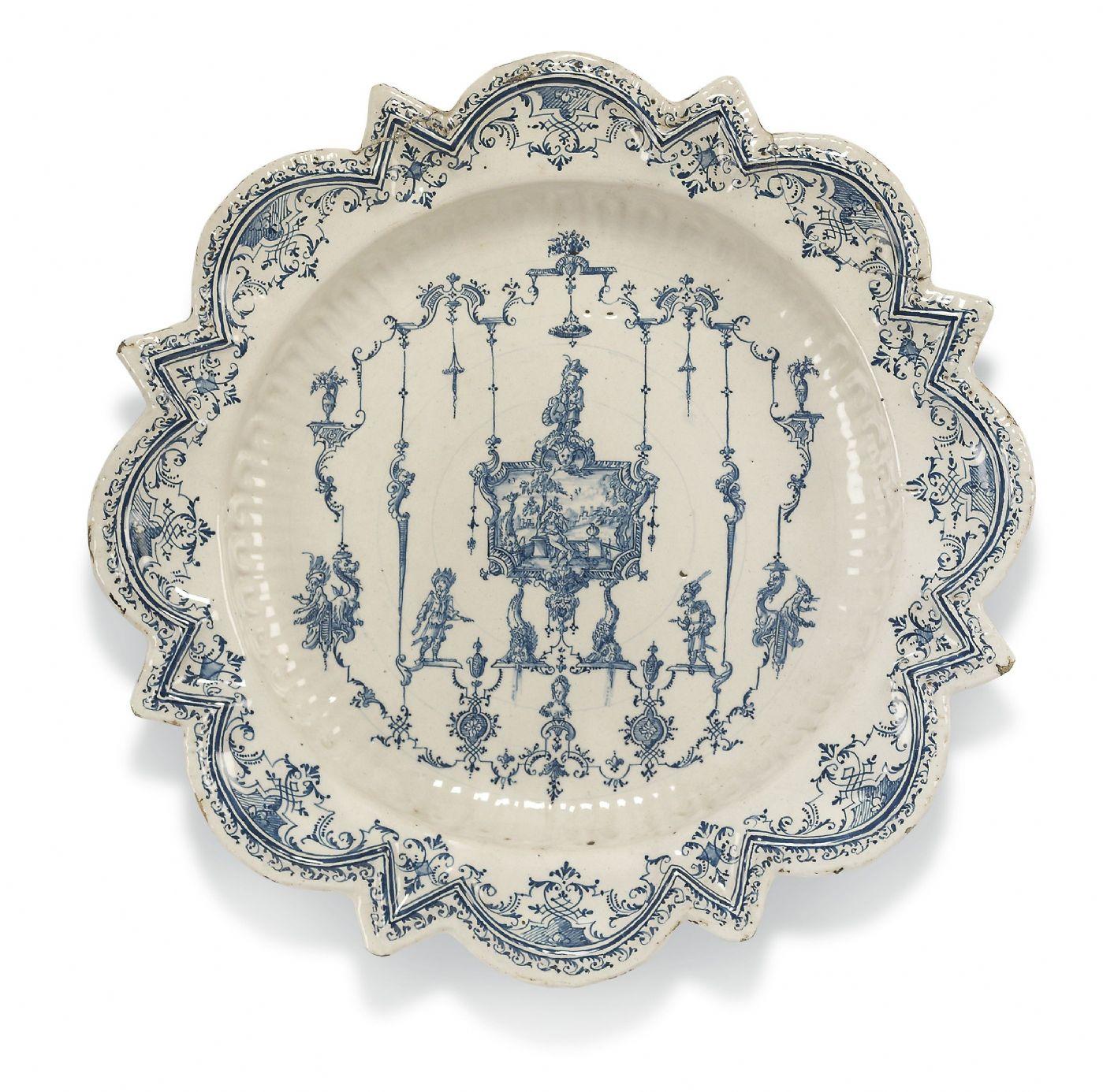 Grande piatto a forma Stellata Fabbrica Rossetti, Torino 1735 circa ...