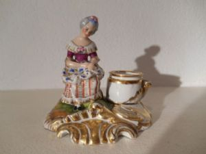 Inkwell porcelain painted Art.543