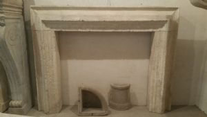 Antique stone fireplace in cornice