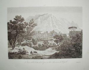 卡普里岛 - 那不勒斯 -  Zuccagni Orlandini 1845