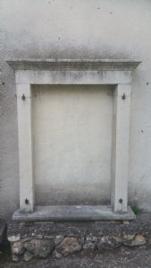White marble antique window""