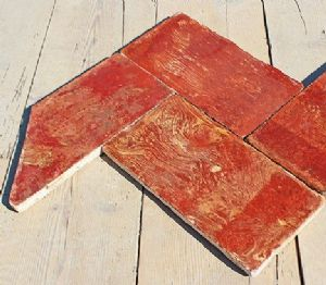 Authentic terracotta floor variegated Lombard