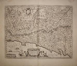 East italian riviera - Liguria - Blaeu 1667