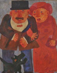 Franz Borghese - Coniugi e cane nero