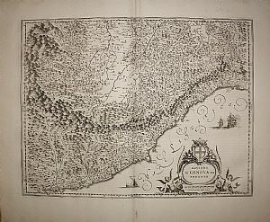 West italian riviera - Liguria - Blaeu 1667