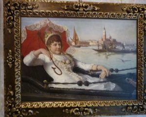 """Портрет женщины с красным зонтиком в Венеции"""""""