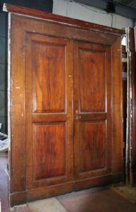 Ancient wooden door. Period 1800.