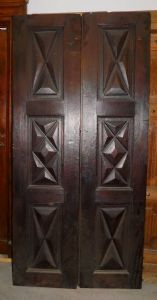 Ptci468 diamond-shaped walnut hatch, ep. '600, h cm 208 x 98.5 x 6""