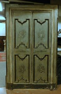 ptl433 lacquered door with decorations, mis. max cm 141 xh 245""