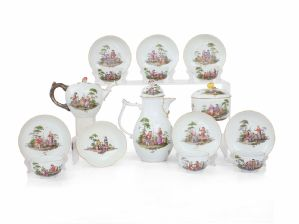 SERVICE FROM YOU AND COFFEE IN PORCELAIN, MEISSEN, 1750 CA""