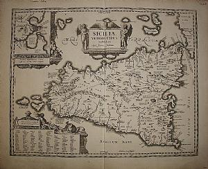 Sizilien - Plate / Hondius 1657